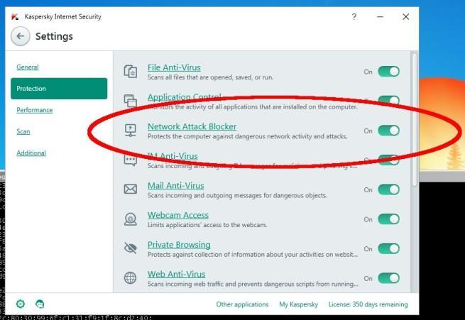 Kaspersky Internet Security problema de seguridad bloquear procesos windows