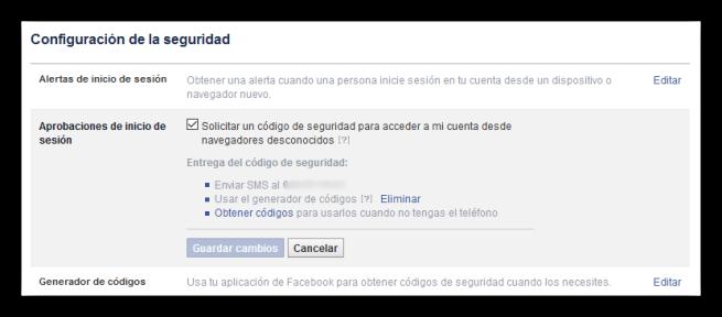 Medidas de seguridad en Facebook