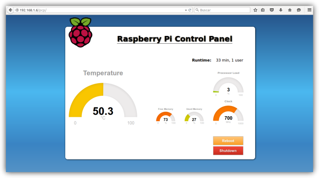 Raspberry Pi PHP Control Panel - 2