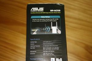 Lateral izquierdo de la caja del ASUS RP-AC56