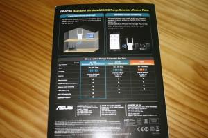 Trasera de la caja del ASUS RP-AC56