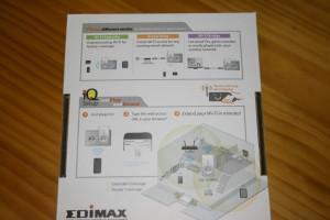 Trasera de la caja del Edimax EW-7438PTn