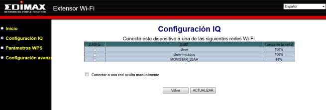 Configuración iQ Setup del firmware Edimax EW-7438PTn