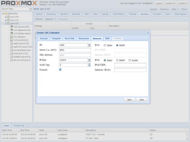 proxmox-create-lxc