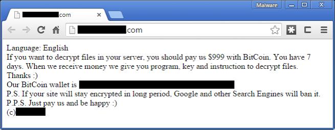 999 dólares por recuperar ransomware