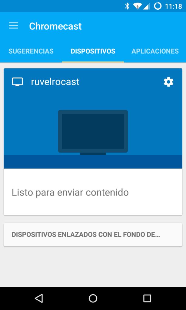 Comprobar que Chromecast funciona