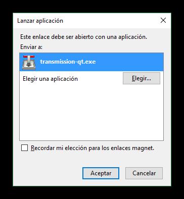 Descargar magnet con Firefox