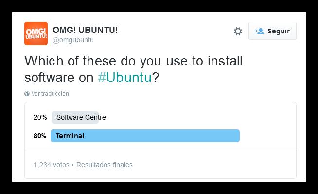 Encuesta instalar software en Ubuntu