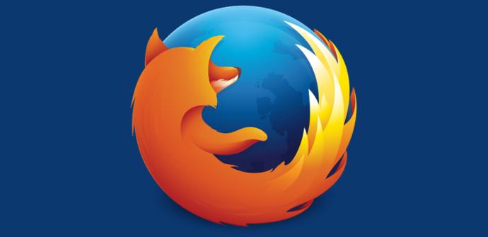 Firefox en fondo azul