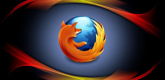 Firefox sobre fondo de color