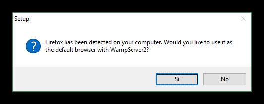 Navegador por defecto Wamp