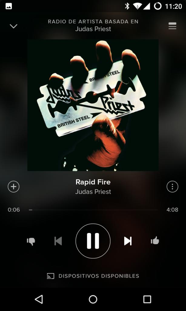Reproduciendo buena música en Spotify