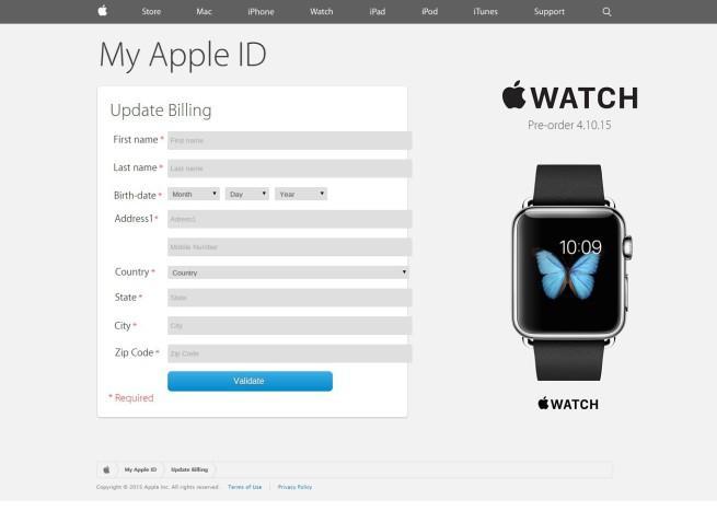 apple id phishing robo de tarjeta de credito