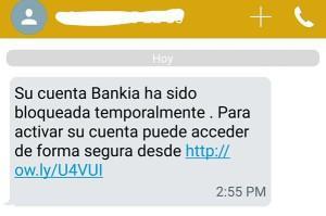 cuenta bankia bloqueada