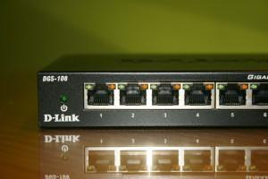 Puertos Ethernet del D-Link DGS-108