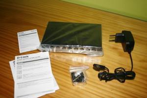 Contenido de la caja del D-Link DGS-108