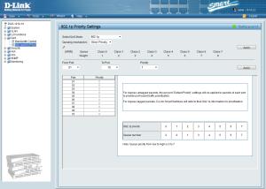 D-Link DGS-1210-10: Firmware parte QoS