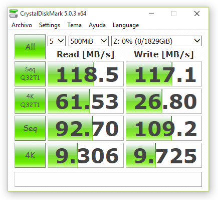 synology ds416 JBOD sin cifrado 500 MB