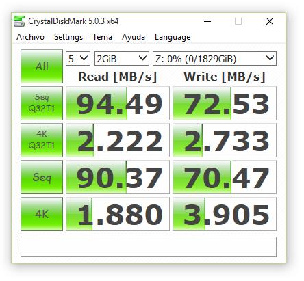 synology ds416 RAID0 con cifrado 2000 MB