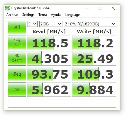 synology ds416 RAID0 sin cifrado 2000 MB