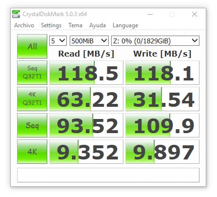 synology ds416 RAID0 sin cifrado 500 MB