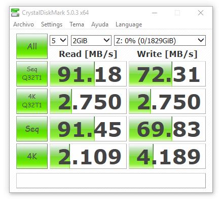 synology ds416 RAID1 con cifrado 2000 MB
