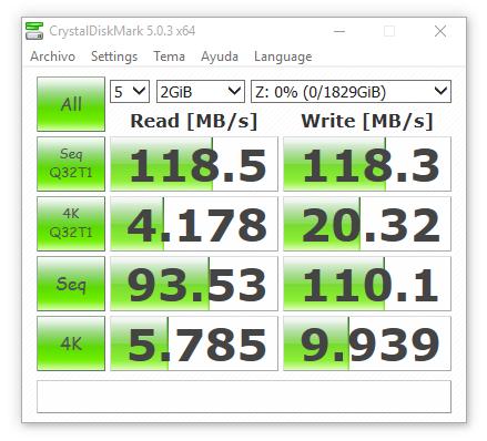 synology ds416 RAID1 sin cifrado 2000 MB