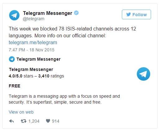 telegram cierra canales utilizados por el estado islamico