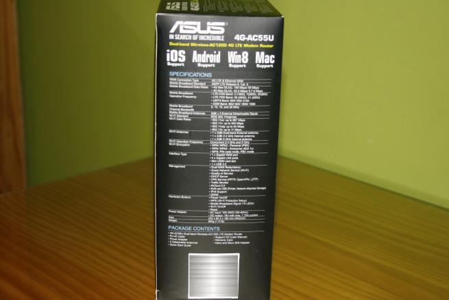 Lateral izquierdo del router ASUS 4G-AC55U