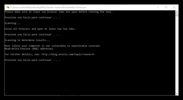 AV Vulnerability Checker - Resultado del test