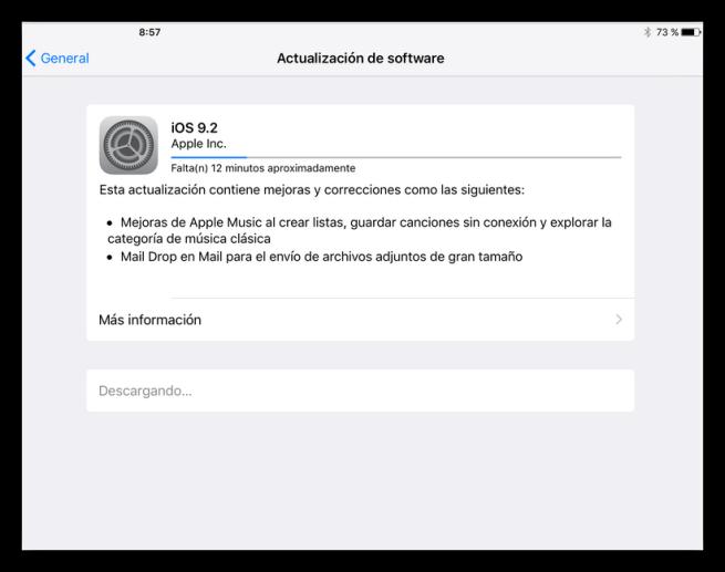 Actualizando a iOS 9.2