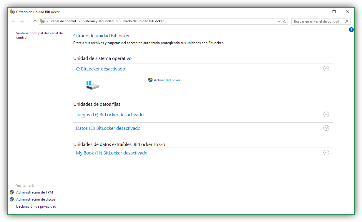 Diferencias entre el cifrado de BitLocker y EFS en Windows
