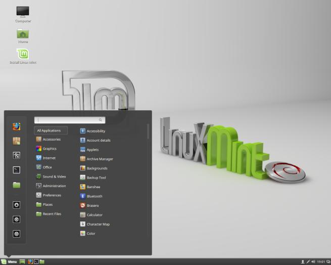 Escritorio de Linux Mint