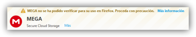 Firefox - Extensión sin firmar