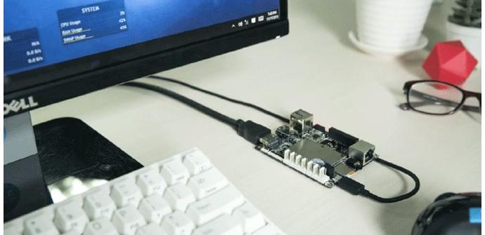 LattePanda conectado a un monitor
