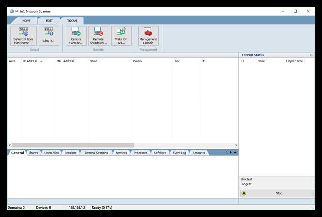 MiTeC Network Scanner - Herramientas adicionales