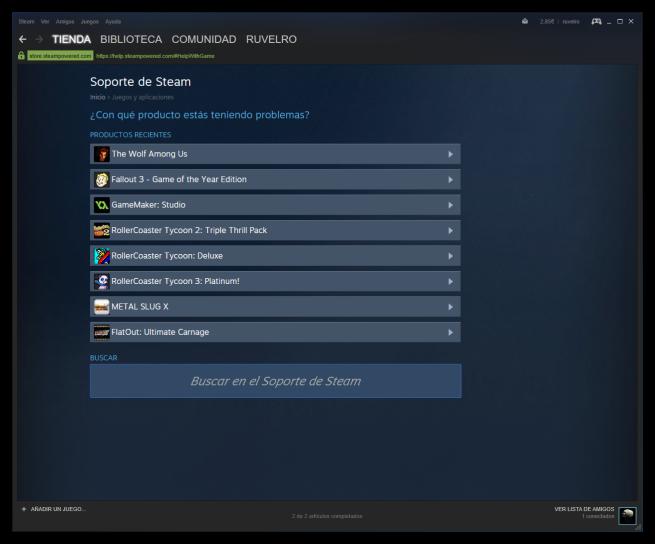 Problema con Apps y juegos de Steam
