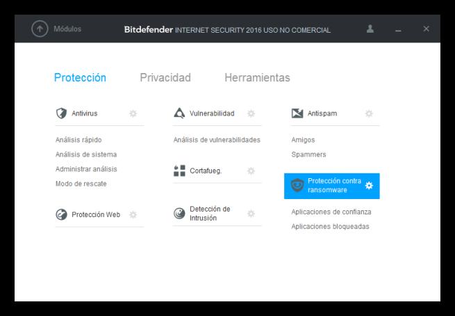 Protección contra ransomware de Bitdefender