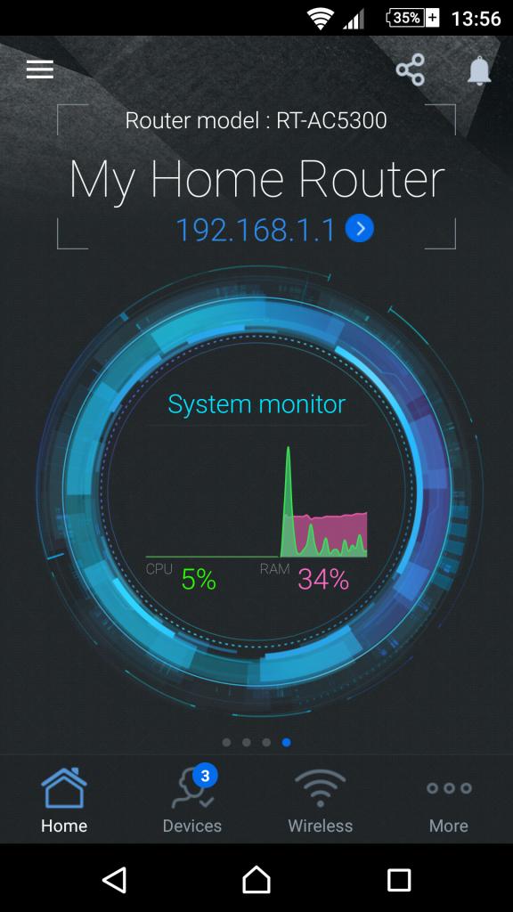 Aplicación ASUS Router para Android