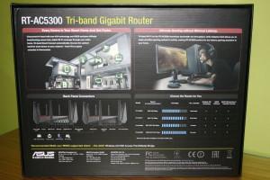Trasera de la caja del router ASUS RT-AC5300