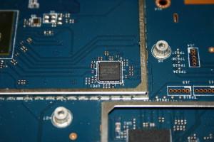 Zona de la CPU y RAM del router ASUS RT-AC5300