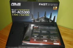 Interior de la caja del ASUS RT-AC5300