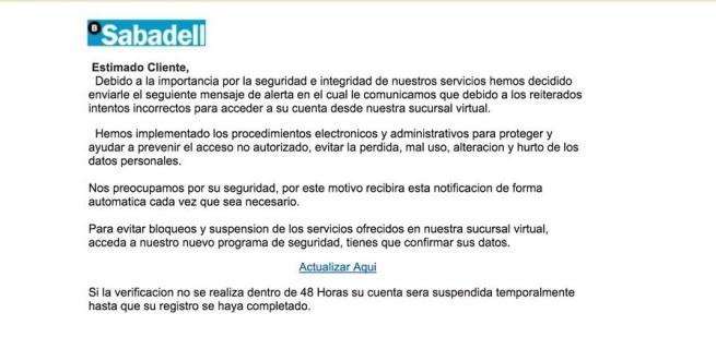 banco sabadell phishing usuarios
