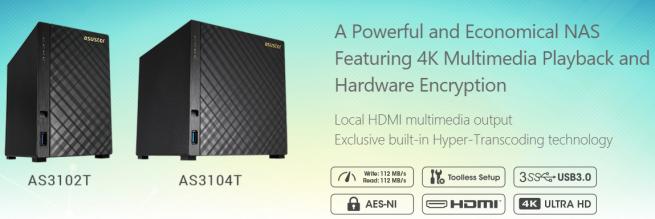 nas asustor compatibles con kodi 16 y vídeo en 4k