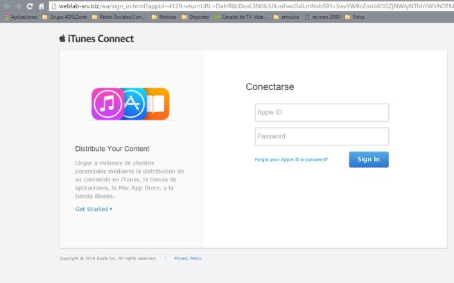 phishing de apple robo de credenciales 2