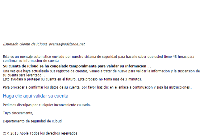 phishing de apple robo de credenciales