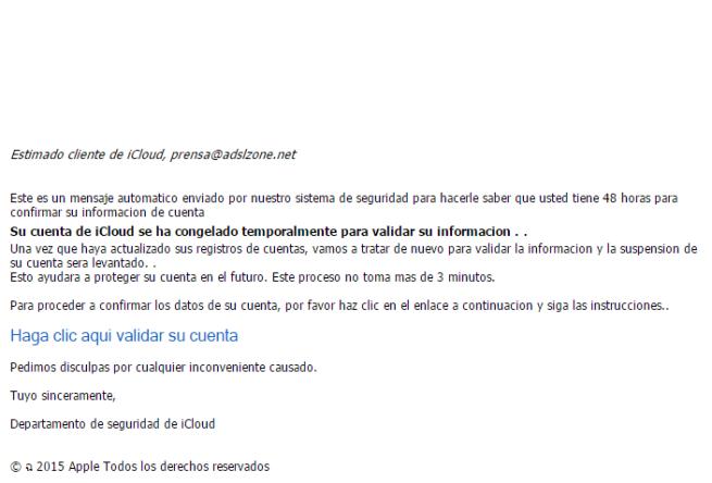 phishing de apple robo de credenciales