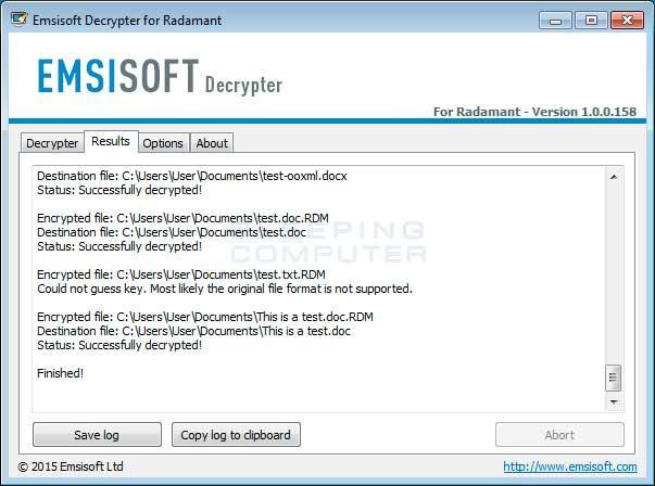 randamant herramienta para recuperar archivos ciffrados en sistremas windows