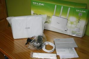 Contenido de la caja del router TP-LINK Archer C9