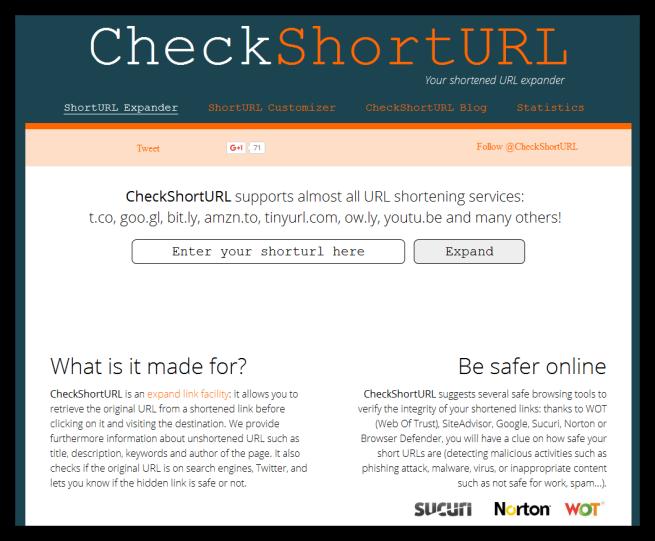 CheckShortURL - Comprobar ransomware en una URL
